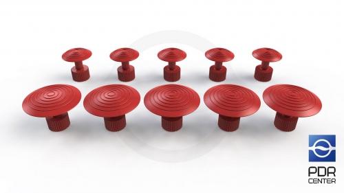 Клеевые грибки Wurth, красные (комплект из 10 шт Ø 21 mm и Ø 32 mm)