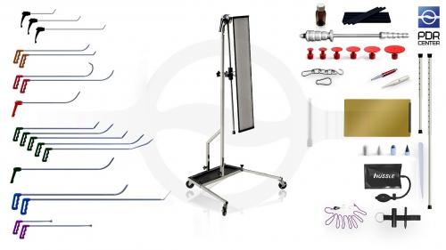 Средний набор с большой LED лампой Ultra Dent (18 крючков, 4 насадки, 12 аксессуаров, клеевая система, большая лампа)