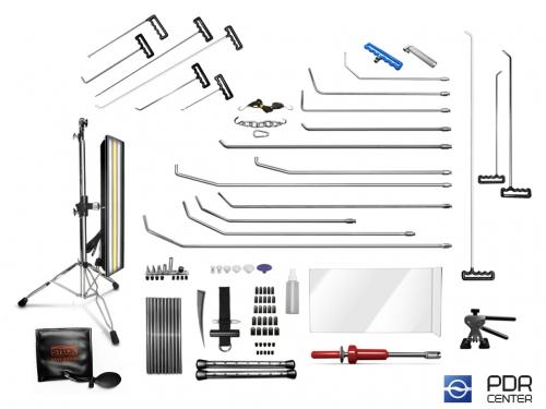 05UE - Ultra M со средней лампой (20 крючков, средняя LED лампа, 7 аксессуаров, насадки, клеевая система  с обратным молотком и минилифтером)