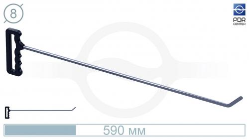 Крючок со стандартным загибом, плоский (длина 59 см, угол загиба 45º, длина загиба 40 мм, Ø 8 мм)