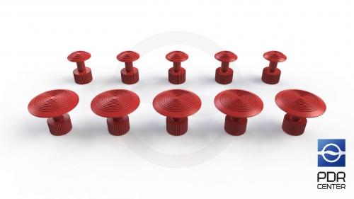 Клеевые грибки Wurth, красные (комплект из 10 шт Ø 16 mm и Ø 27 mm)