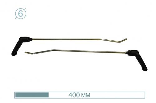 Крюки с поворотными ручками 12006-2 (PR Bras-2 (Platinum))