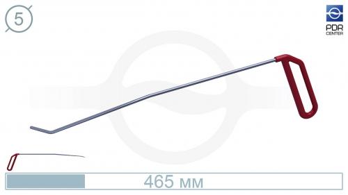 Крючок правый угловой, плоский (длина 40 см, угол загиба 45º, длина загиба 28 мм, Ø 5 мм)