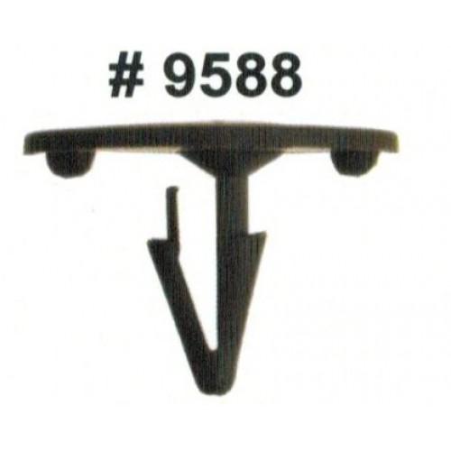 Комплект клипс для автомобилей Ford, черные, 50 штук (Ø отверстия 8 мм, Ø шляпки 30 мм)