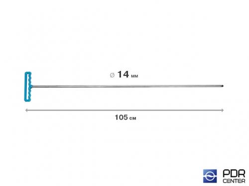 Крючок градовый для винтовых насадок (длина 105 см, Ø 14 мм)