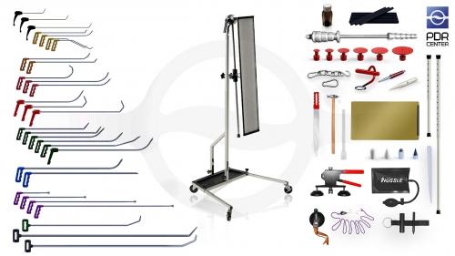 Максимальный набор с большой LED лампой Ultra Dent (30 крючков, 4 насадки, 18 аксессуаров, клеевая система, большая лампа)