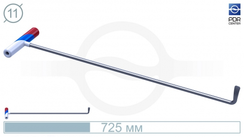 Крючок PDRC-9 Длина крючка 70 см. Длина загиба 5 см. Угол загиба 90°. Ø11 мм