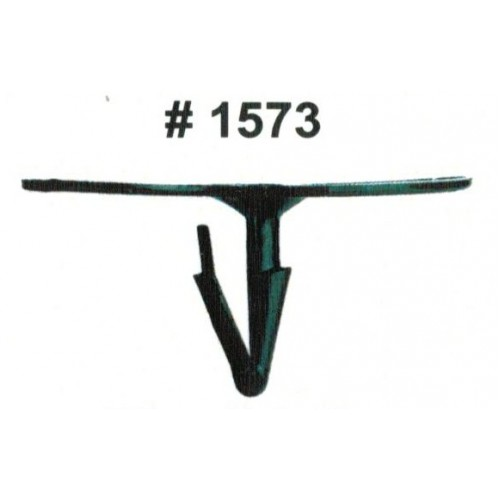 Комплект клипс для автомобилей Ford, черные, 50 штук (Ø отверстия 7.5 мм, Ø шляпки 44.7 мм)
