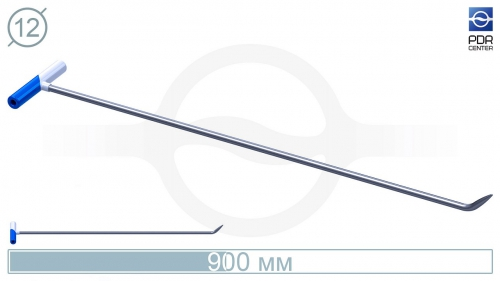 Крючок №-3n. Длина 95 см, длина загиба 6 см,угол загиба 45º. Ø 12 мм.