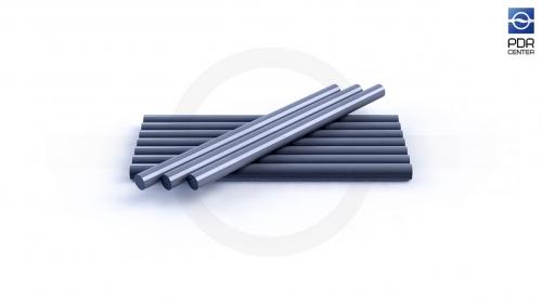 Клеевые стержни усиленные, 10 штук, серебристые