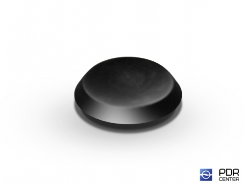 Заглушки твёрдые из черного пластика (Ø 19 мм)