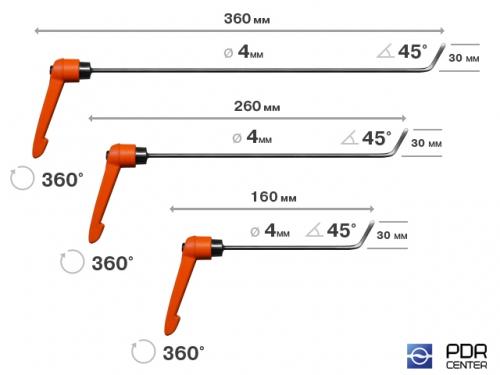 Крючок с поворотной ручкой, набор 3 шт. (Ø 4 мм)