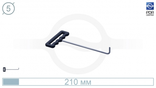 Крючок со стандартным загибом, плоский (длина 21 см, угол загиба 90º, длина загиба 25 мм, Ø 5 мм)