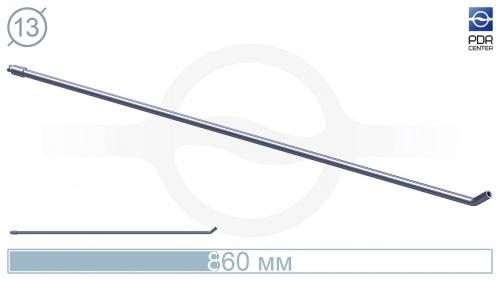 Крючок со стандартным загибом для винтовых насадок (длина 86 см, длина загиба 30 мм, угол загиба 40º, Ø 13 мм, без ручки)