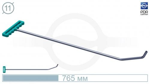 Крючок с двойным загибом для винтовых насадок (длина 765 мм,угол загиба 65º, Ø 11 мм)