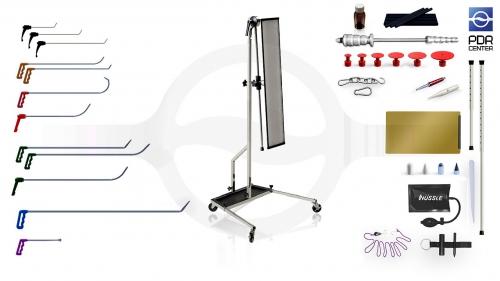 Малый набор с большой LED лампой Ultra Dent (12 крючков, 4 насадки, 11 аксессуаров, клеевая система, большая лампа)