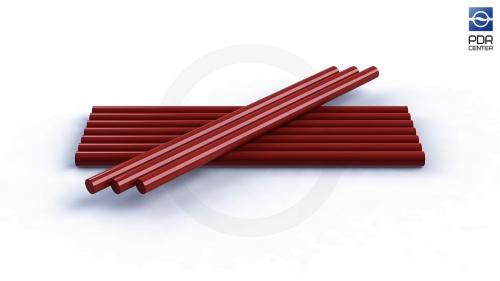 Клеевые стержни DentOut для жаркой погоды, красные (10 штук)