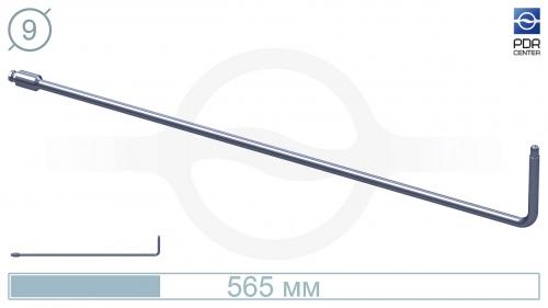 Крючок со стандартным загибом для насадок A35/36, без рукоятки (длина 565 мм,угол загиба 90º, Ø 9 мм)
