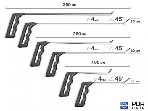 Крючки малые, набор 6 шт. (Ø 4 мм)