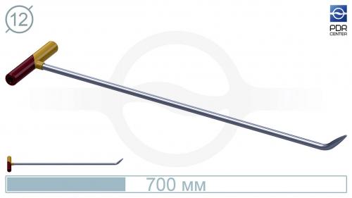 Крючок №5n Длина общая 75 см. Длина загиба 5 см, угол загиба 45° .Ø11 мм.