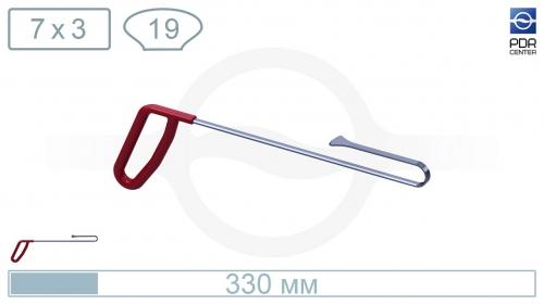 Крючок из нержавеющей стали Китовый хвост, обратный загиб, длина 33 см, ширина головы 19 мм