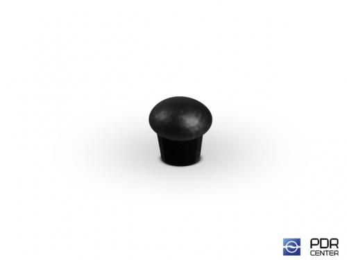 Заглушки твёрдые из черного пластика (Ø 9 мм, без шляпки)