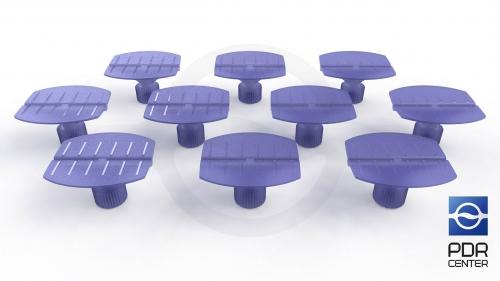 Клеевые грибки Wurth, фиолетовые, бочкообразные (комплект из 10-ти штук)