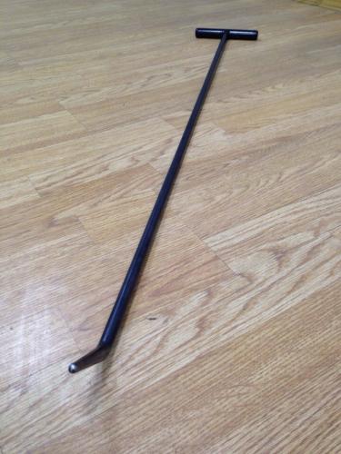 Крючок со стандартным загибом, закруглённый (длина 90 см, длина загиба 7 см, угол загиба 45°, Ø 13 мм)