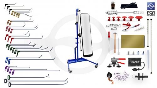 Максимальный набор с большой LED лампой (30 крючков, 4 насадки, 16 аксессуаров, клеевая система, большая лампа)