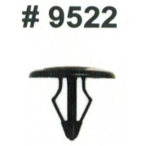 Комплект клипс для автомобилей Ford, черные, 25 штук (Ø отверстия 6 мм, Ø шляпки 14 мм)