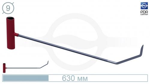 Крючок с двойным загибом, острый (длина 60 см, Ø 9 мм)