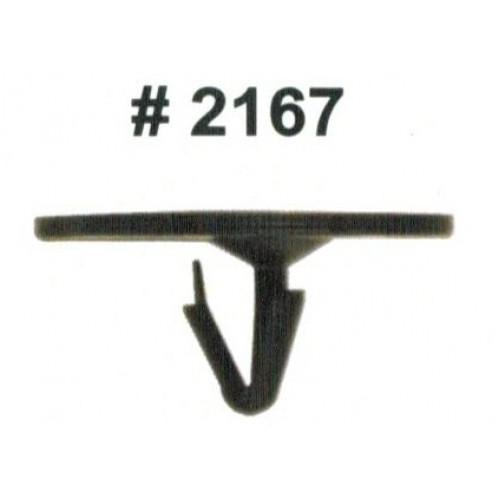 Комплект клипс для автомобилей GM, черные, 50 штук (Ø отверстия 6.3 мм, Ø шляпки 30 мм)