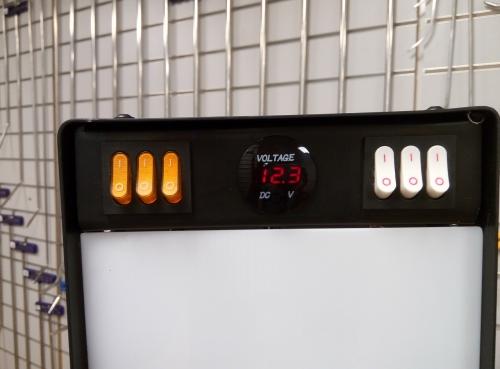 Большая светодиодная лампа с пультом д/у, 6 полос, диммер, 220V