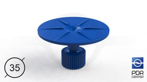 Клеевой грибок круглый, синий (Ø 35 mm)