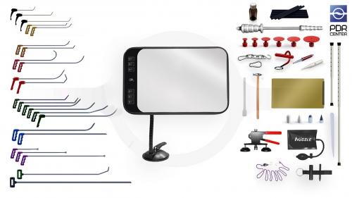 Большой набор с мобильной LED лампой (24 крючка, 4 насадки, 14 аксессуаров, клеевая система, мобильная лампа)