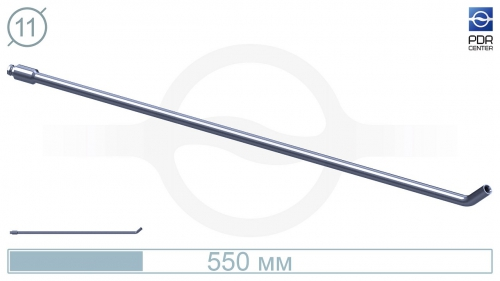 Крючок со стандартным загибом для винтовых насадок (длина 55 см, длина загиба 30 мм, угол загиба 45º, Ø 11 мм, без ручки)