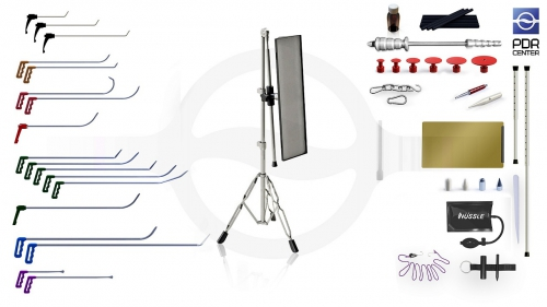 Средний набор со средней LED лампой Ultra Dent (18 крючков, 4 насадки, 12 аксессуаров, клеевая система, средняя лампа)