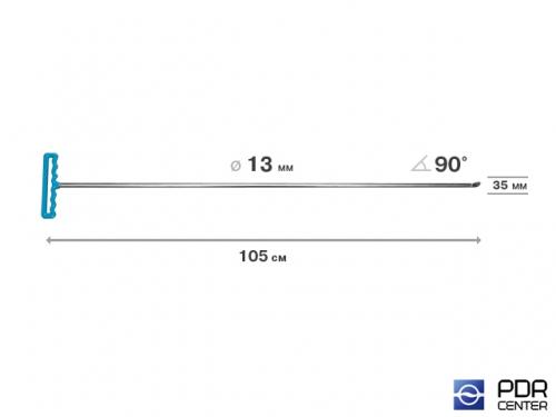 Крючок со стандартным загибом под насадки A35 и A36 (длина 105 см,  угол загиба 90º, длина загиба 35 мм, Ø 13 мм)