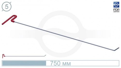 Крючок со стандартным загибом, плоский  (угол загиба 45º, Ø 5 мм)