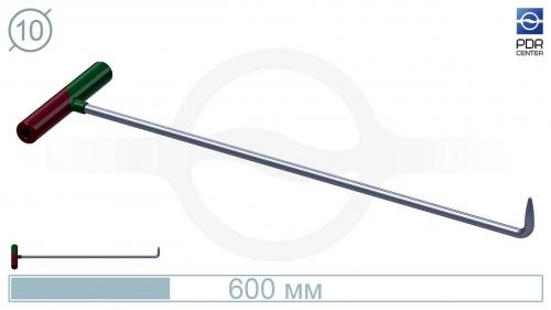 Крючок №10n Длина 60 см, длина загиба 5 см, угол загиба 90°. Ø10 мм.