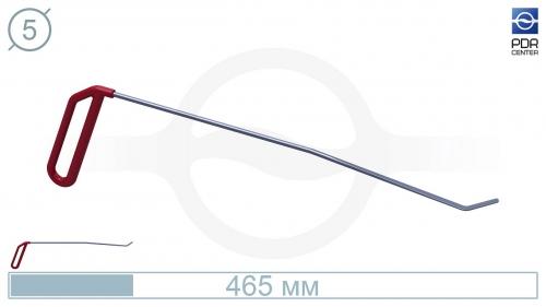Крючок левый угловой, плоский (длина 40 см, угол загиба 45º, длина загиба 28 мм, Ø 5 мм)