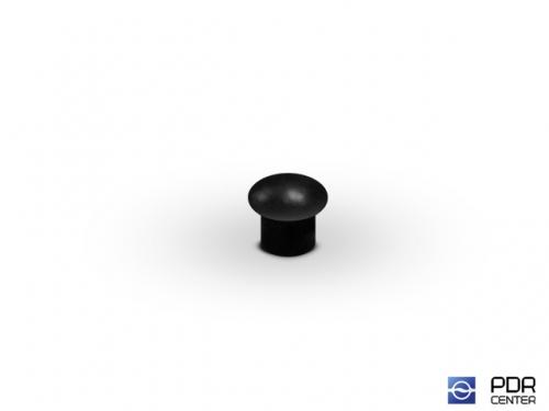 Заглушки твёрдые из черного пластика (Ø 5 мм, без шляпки)