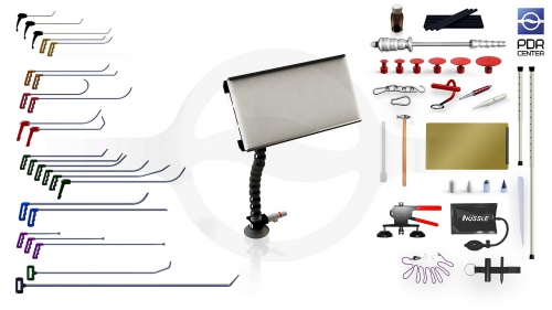 Большой набор с мобильной LED лампой Ultra Dent (24 крючка, 4 насадки, 15 аксессуаров, клеевая система, мобильная лампа)