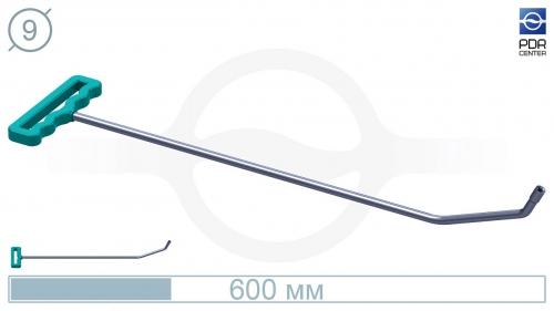 Крючок с двойным загибом для винтовых насадок (длина 60 см,угол загиба 65º, Ø 9 мм)
