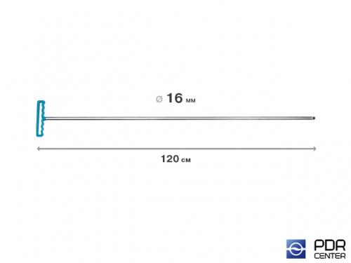 Крючок градовый для винтовых насадок (длина 120 см, Ø 16 мм)
