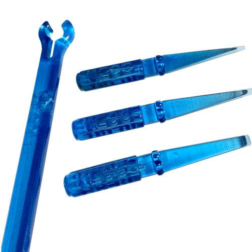 Комплект из 3-х пластиковых кернов с рукояткой, синий