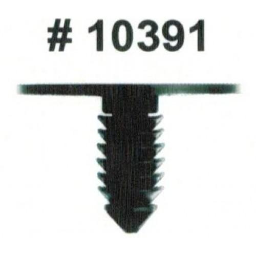 Комплект клипс для автомобилей Chrysler, черные, 50 штук (Ø отверстия 6.3 мм, Ø шляпки 25.4 мм)