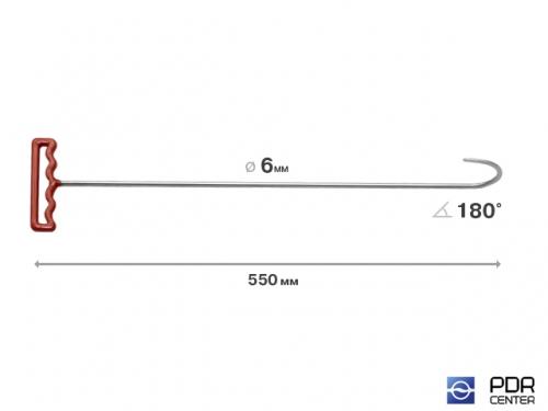 Крюк для низа двери (длина 55 см, угол загиба 180º, Ø 6 мм)