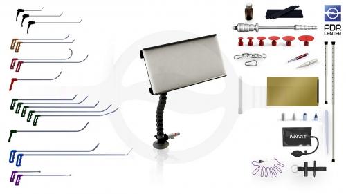 Средний набор с мобильной LED лампой Ultra Dent (18 крючков, 4 насадки, 12 аксессуаров, клеевая система, мобильная лампа)