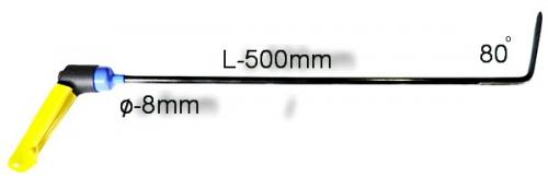 Крючок с поворотной ручкой,PR-11 (Razor-sharp) Длина 65 см,длина загиба 14 см, угол загиба 45º. Ø8 мм. (Острое лезвие)